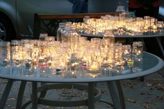 candles at dinner party