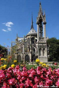 Notre Dame Garden,  Paris, France