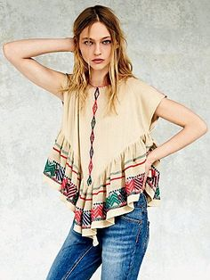 Free People FP New Romantics Pinnacle Mesh Top