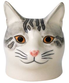 SADIE CAT FACE EGG CUP by Liberty of London.