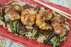 I saw lobster tail on sale recently, so I made this decadent lobster tail with ginger and scallion sauce with a light touch of butter for a smooth texture, served over brown or your favorite rice  http://www.yingandyangliving.com/food/recipes-food/lobster-creamy-ginger-scallion-sauce/