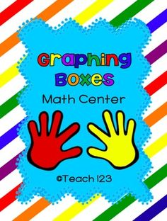 Math Center:  Graphing Boxes - aligned with Kindergarten and 1st grade Common Core.  $