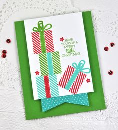 Merry Little Christmas Card by Dawn McVey for Papertrey Ink (October 2014)