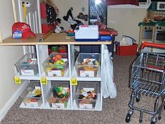 pretend play grocery store idea, activ mom, dramat play, playroom, groceri store, pretend play, play groceri, grocery stores, kid