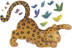 nursery ocean mural | Leopard Wall Mural. Printed on self adhesive vinyl that is removable ...