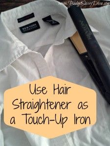 Use a Hair Straightener as a Touch-Up Iron