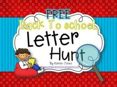 FREE Back to School Letter Hunt for Kinders