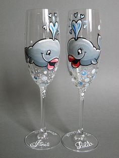 Peinture sur verre on pinterest painted wine glasses for Peinture sur verre