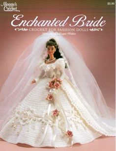 Spring is fast approaching and that means the wedding season will soon be here. Stunning only begins to describe the Enchanted Bride Pattern. This Victorian style bridal gown is an elegant crochet doll dress.. Be sure to make this one of a kind decoration for an upcoming wedding or as a gift to a bride-to-be. The lavish Enchanted Bride Pattern Leaflet includes directions for the dress, veil and train. Place this beautiful dress on a doll that looks like the bride for a gift or decoration t