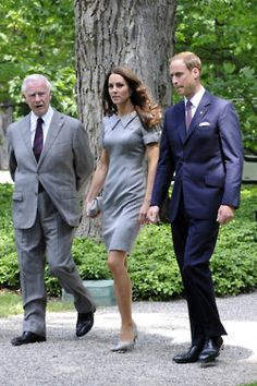 Prince Charles, Catherine, and Prince William. #Kate #Middleton #Prince #William