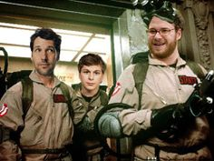 The new Ghostbuster crew lol, Paul Rudd, Michael Cera, and Seth Rogan.