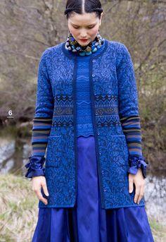 Bleu / Blue - Oleana, Norwegian sweater