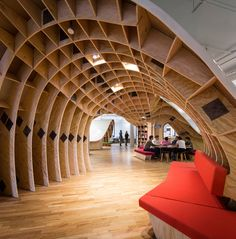 Clive-Wilkinson-Superdesk-Barbarian-Group-Office-Workspace office spaces, architects, office desks, seat, librari, design blogs, bureau, office workspace, table manners