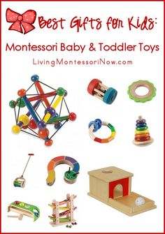 Best Gifts for Kids: Montessori Baby and Toddler Toys - classic natural, wooden toys