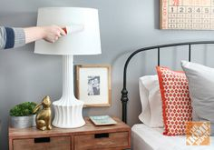 Spring Cleaning Tip: Use a lint roller to clean dust off lamp shades!