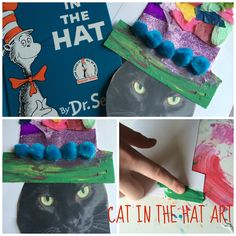 Cat in the Hat kids' art activity! Using mixed-media.