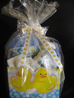 Bath Time Baby Gift Basket for Boy or Girl by ButterflyKissesGifts.com  $69.99