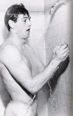 Rock Hudson at home. Man, who cares that he was gay; that is one hunky piece of man!