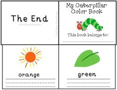 The Very Hungry Caterpillar color words writing practice mini-book! $