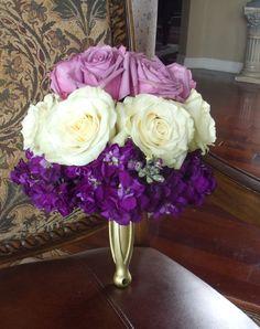Purple almost ombre wedding bouquet