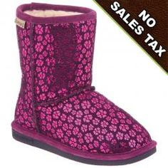 If you're searching for a practical gift this holiday season for a little girl take a look at this super cute Cimi sheepskin boot in winter berry color by Bearpaw!