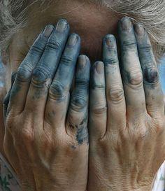 #blue #hands