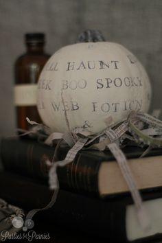 Halloween Decor - typography pumpkin  #modern #Halloween #decor #pumpkin #typography