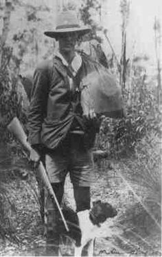 The swag. Classic Australian rucksack design of the 1920s. Rifle optional.