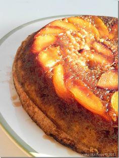 Nectarine chiffon upside-down cake