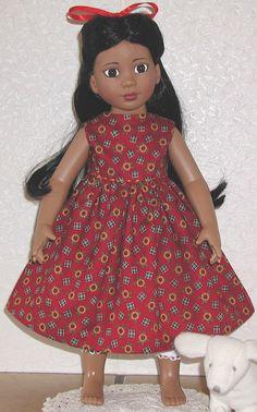 """18"""" doll holiday dress FREE PATTERN"""