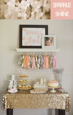 A Sparkle and Shine party! What a perfect birthday party idea for a little girl!