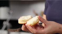 The Southern Way to Split a Biscuit | Cut a biscuit with a knife? We would never! Learn the easiest way to split a biscuit with this Test Kitchen tip. | SouthernLiving.com