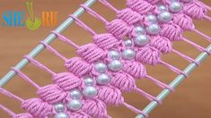 Hairpin Lace Crochet Tutorial 38 The Puff Stitch Beaded Strip  https://www.youtube.com/watch?v=lPZ1L0_4LUo Hairpin crochet tutorials, lots of patterns for hairpin lace crochet, how to crochet hairpin lace with beads, puff stitch hairpin lace crochet pattern. This hairpin crochet video tutorial demonstrates how to make a wonderful double sided hairpin lace strip working puff stitches and joining a bead before each puff stitch.