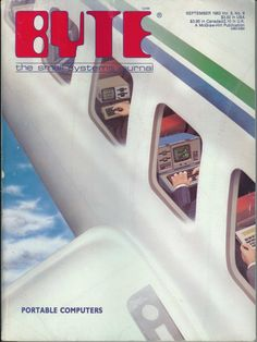 "1983 Byte magazine cover on ""portable computers""."