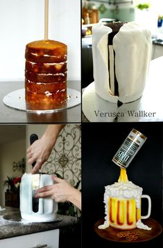 Step by step beer mug cake tut