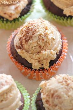 Two Ingredient Chocolate Pumpkin Cupcakes - pumpkin puree + box cake mix!