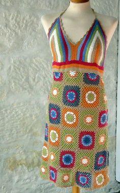 granny square dress
