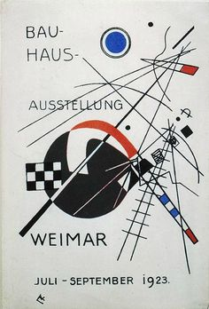 doggylife:  Wassily Kandinsky, Postcard for the Bauhaus Exhibition Weimar of 1923, 1923