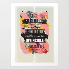 The Invincible Summer Art Print by Kavan & Co - $17.99