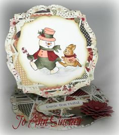 Art Impressions Christmas Parade Set (Sku#4313) with Deck the Halls verse.  Easel card.