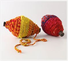 Colorful wrapping yarn