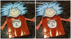 obSEUSSed: Dr. Seuss Thing 1 Thing 2 Paper Bag Puppet Printable