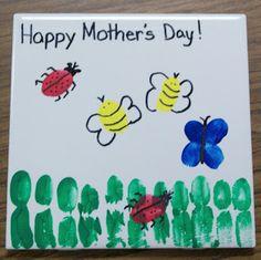 Fingerprint ladybugs, bumble bees, & butterflies (even the grass)