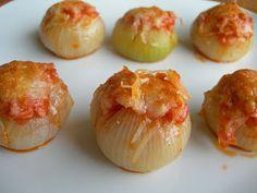 Cocinando entre Olivos: Cebollitas francesas rellenas. Paso a paso