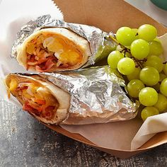 Rise and shine! These hearty Chicken Breakfast Burritos will get your day started on the right foot! More breakfast sandwiches: http://www.bhg.com/recipes/breakfast/breakfast-sandwiches/?socsrc=bhgpin062013burritos=7