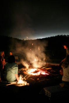 s'mores around a bonfire   Allan Zepeda, Jeremie Barlow, Carla Ten Eyck #wedding