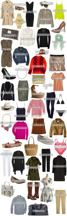 50 Wardrobe Staples you need in your closet now. Good list to look at and compare to what you have in your closet.