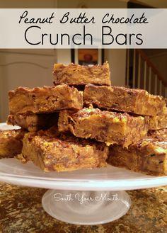 Peanut Butter Chocolate Crunch Bars