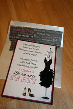 Little Black Dress Bachelorette Party by LopazeCreations on Etsy