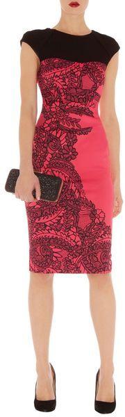 Karen Millen Lace Print Cugnasca in Pink
